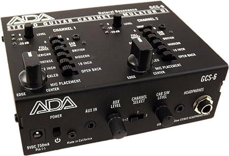 ADA GCS-6 gabinete de guitarra estéreo simulador y caja DI: Amazon ...