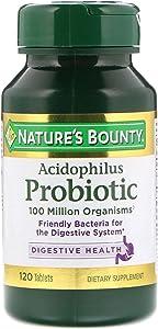 Nature's Bounty Probiotic Acidophilus Tablets, 120 Count