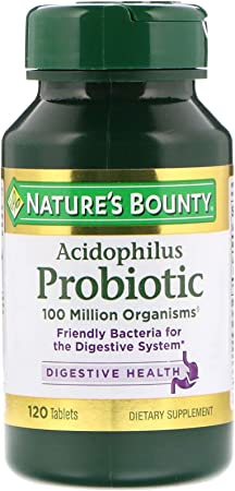 Nature's Bounty Acidophilus Probiotic  120 Tabs  Vitamins, Minerals   Supplements