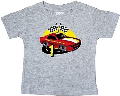 inktastic Race Car 1st Birthday Baby T-Shirt