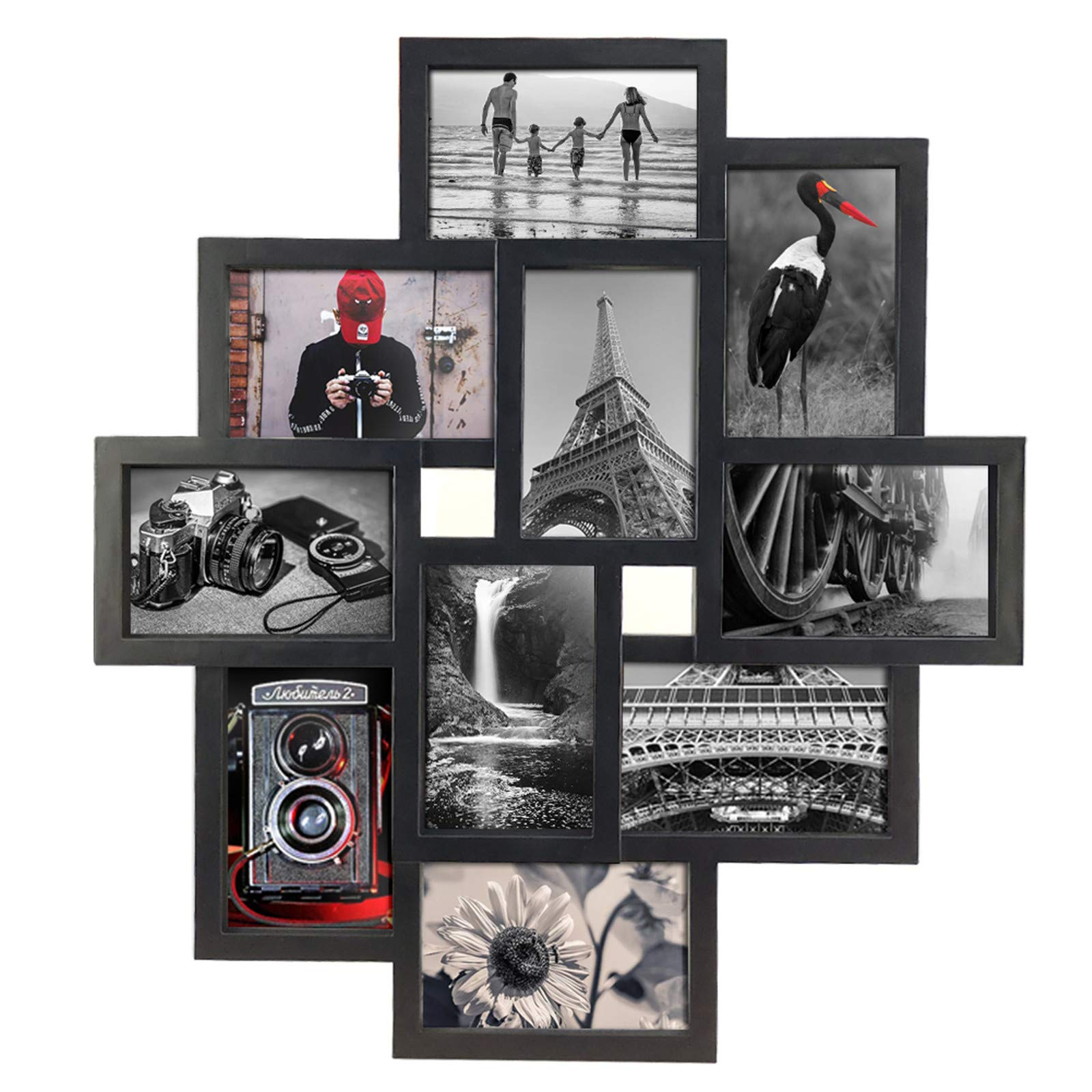 Lavezee 10 Opening 4x6 Black Collage Picture Frame Wall Hanging For 4 By 6 Inch Multiple Photo Frames Buy Online In Belize At Belize Desertcart Com Productid 141634713