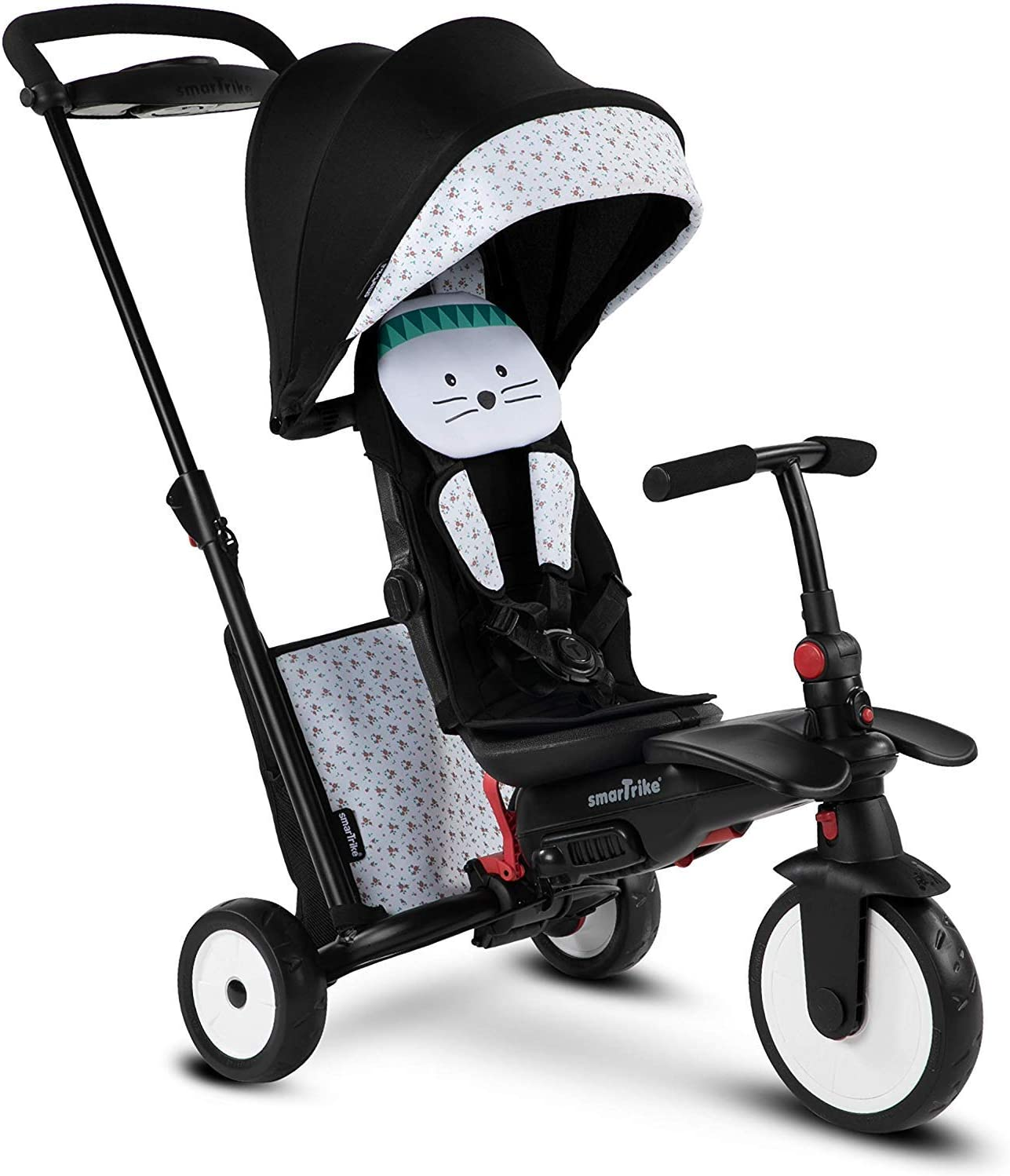 7-in-1 Multi-Stage Trike smarTrike STR5 Folding Toddler Tricycle for 1,2,3 Year Old with Stroller Certification
