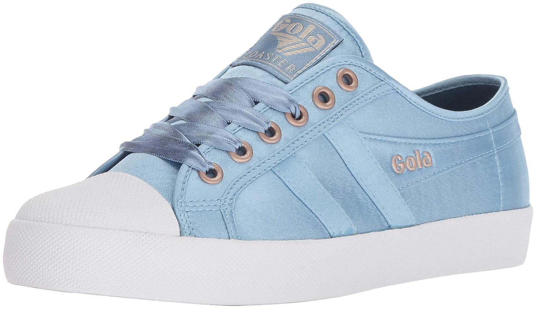 Gola Damen Coaster Satin Indian Teal/Weiß Sneaker Blau (Indian Teal/Weiß Ex)