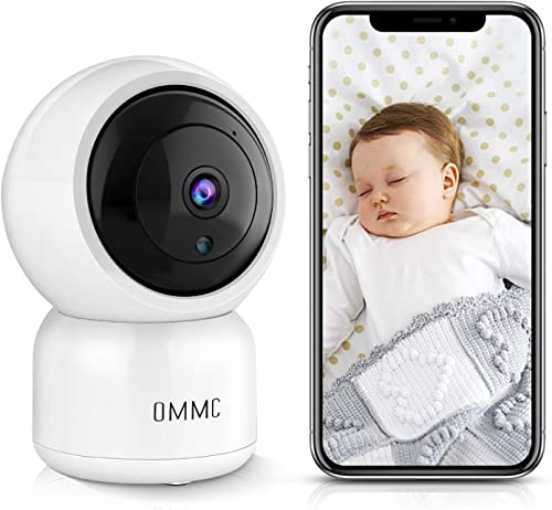 OMMC Wireless Security Camera, 1080P Home IP Camera Baby Monitor with Night Vision 2-Way Audio Motion Detection,Works with Alexa