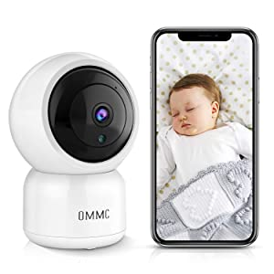 OMMC Wireless Security Camera 1080P, Baby Monitor Home IP Camera with Night Vision/2-Way Audio/Motion Detection,Works with Alexa
