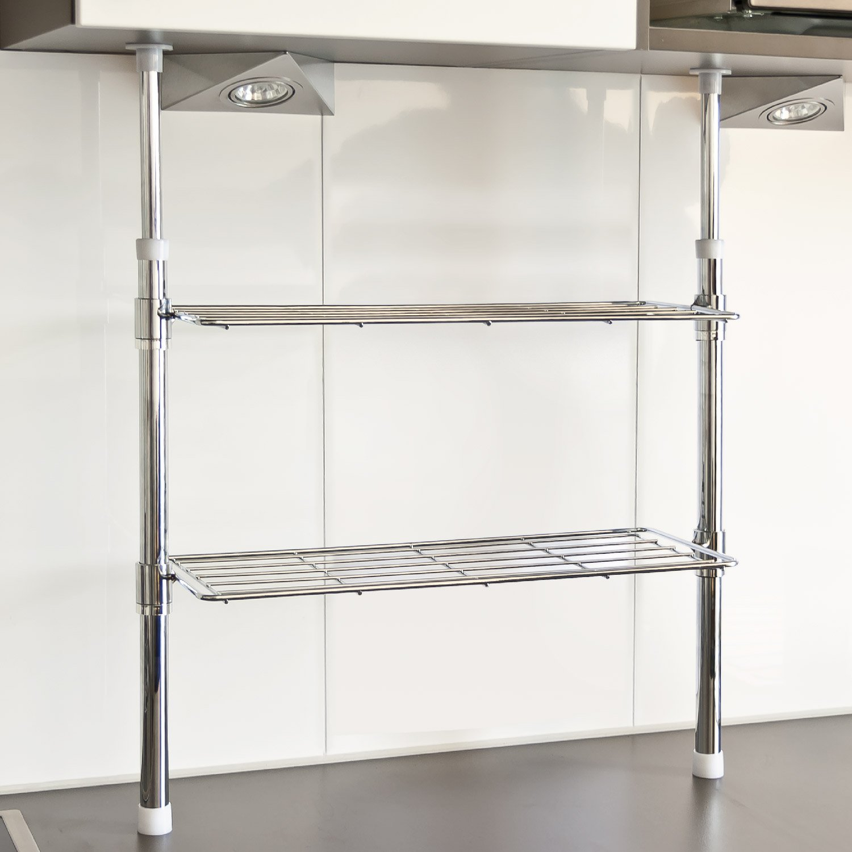 Bremermann Telescopic Kitchen Storage With 2 Shelves Amazoncouk Kitchen &