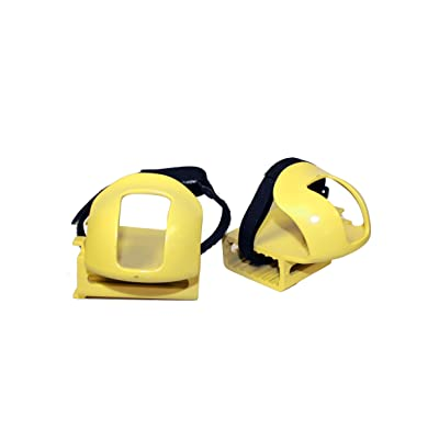 Kettler Kettrike Bicycle Toe Clips, Bike Pedal Straps for Trikes and Bikes, Yellow: Toys & Games