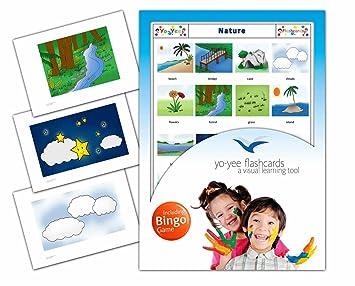 Yo Yee Flashcards Tarjetas Con Imagenes Del Naturaleza Con Juego De