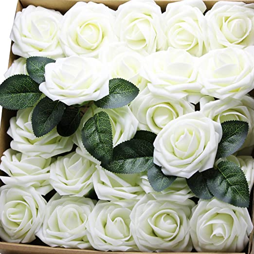 Real Touch Artificial Silk Flowers Mixed Bridal Wedding Bouquet Home Party Decor