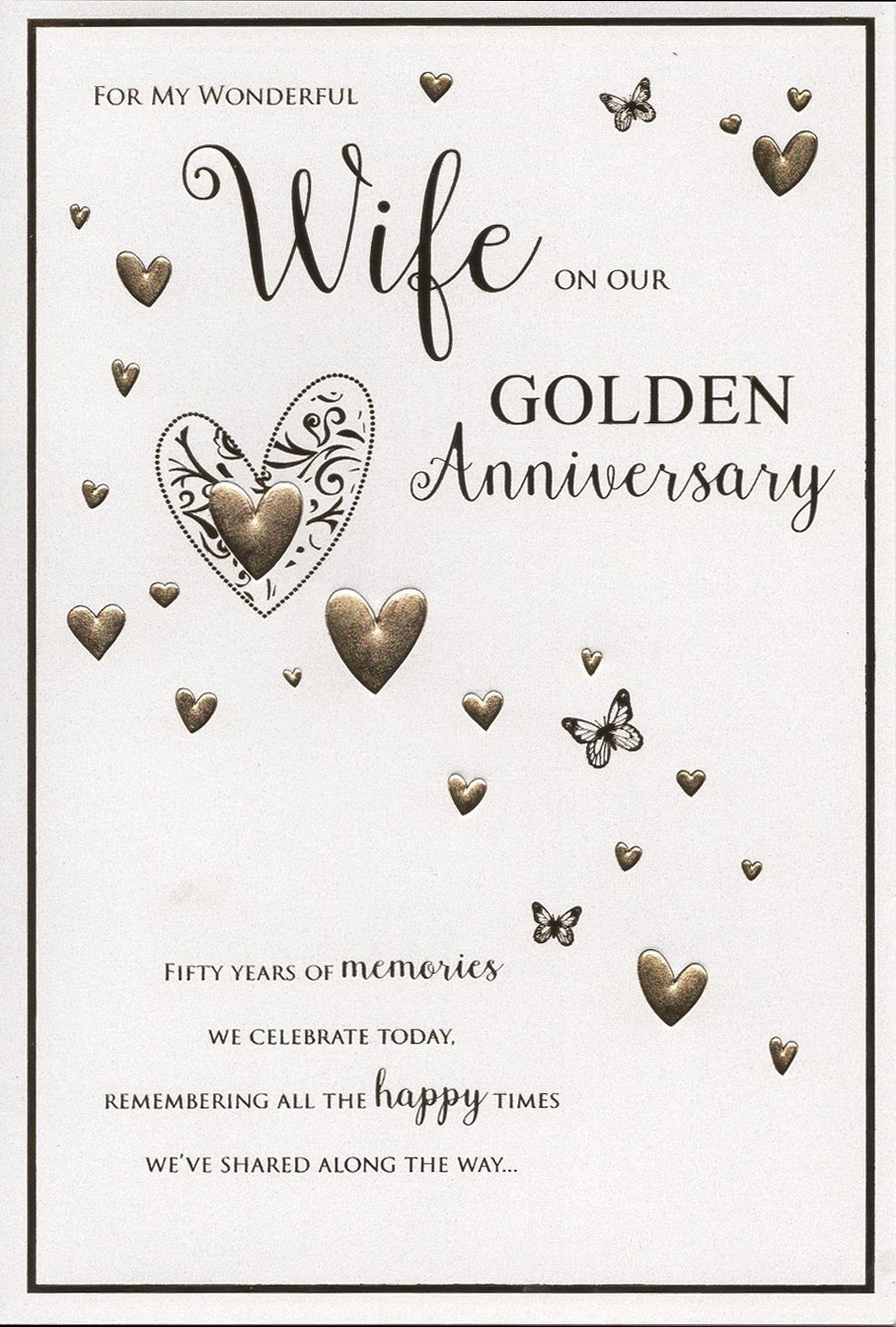 50th wedding anniversary card for my wife