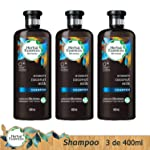 Herbal Essences Shampoo Herbal Essences Biorenew 400ml Coconut Milk, 3 Unidades, Pack of 1