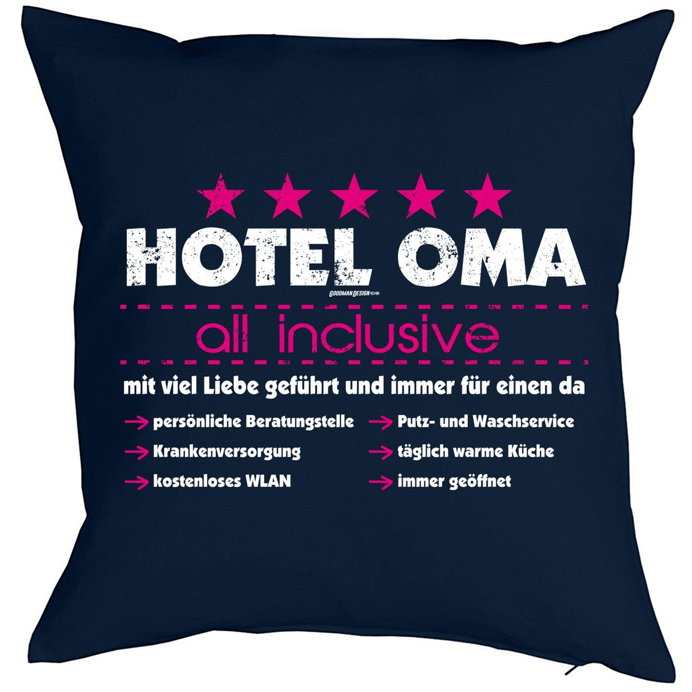 Weihnachtsgeschenk für Oma Kissenbezug Hotel Oma - all inclusive ...