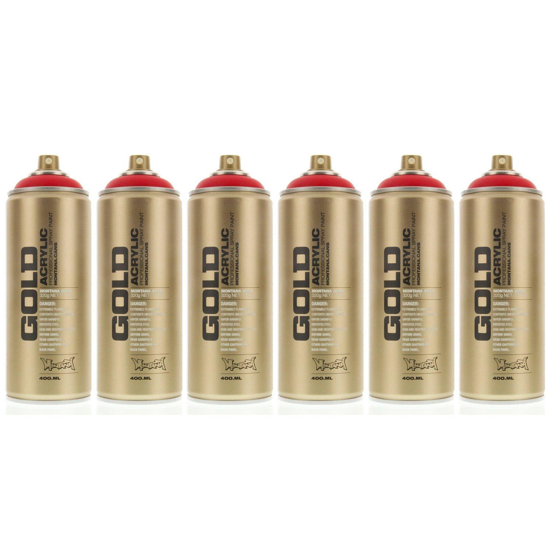 モンタナゴールドアクリルスプレーペイントSilverchrome 2缶パック 6-Cans MXG-S3000-6 6-Cans Shock Red Shock Red 6-Cans B00E6AWQWU
