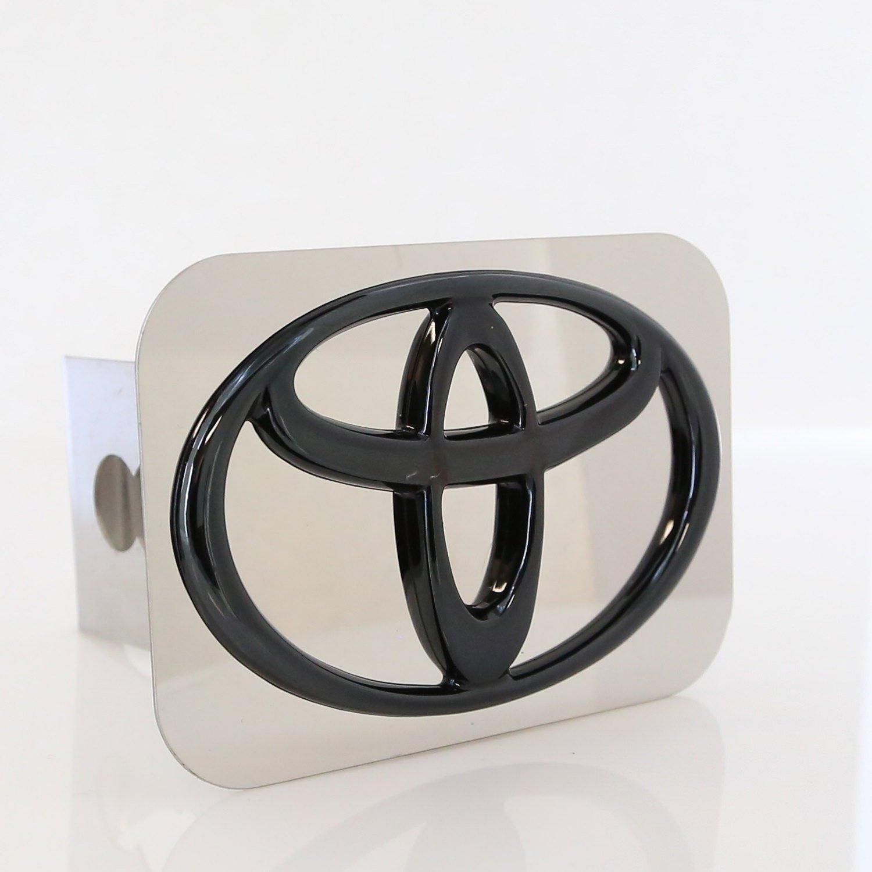 Toyota Black Pearl Logo Chrome Hitch Cover Plug