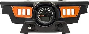 STV Motorsports SDP6 Aluminum Dash Panel Rocker Switch Plates for Polaris RZR XP 1000 for 6 Rocker Switches (Orange)