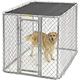 Midwest Homes for Pets K9 Dog Kennel | Four Outdoor Dog Kennel w/Free Sunscreen | Durable Galvanized Steel Dog Kennel…