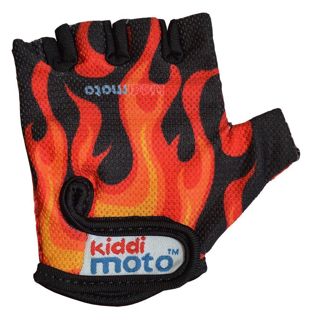 Gants FLAMES 2-5 années,Small Kiddimoto GLV021M Gloves21_schwarz-rot-gold-5+years