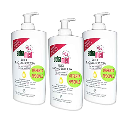 3 x Sebamed – Aceite de baño para ducha - Botes de 500 ml para ...