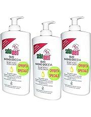 3x Sebamed–Aceite de baño para ducha - Botes de 500ml para pieles sensibles –1,5Litros