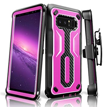 sale retailer 026db d11f5 eSamcore Galaxy Note 8 case, Full Body Protection Shockproof Case Cover  with Rugged Heavy Duty Holster Clip Kickstand [WITHOUT Built-in Screen ...