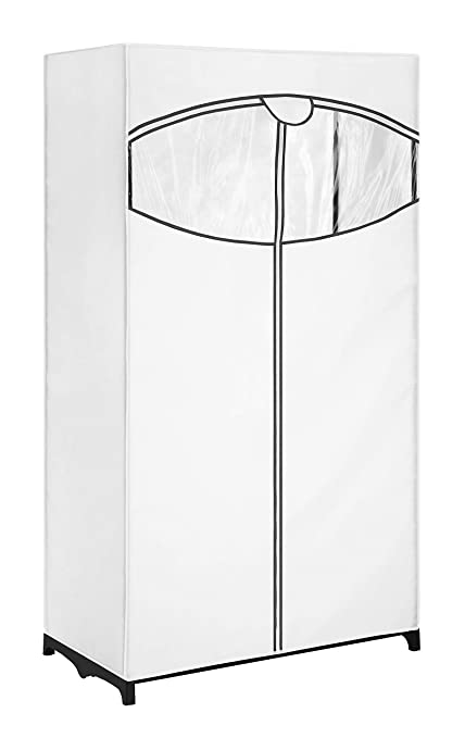 Amazoncom Whitmor Clothes Closet With White Fabric Cover 36