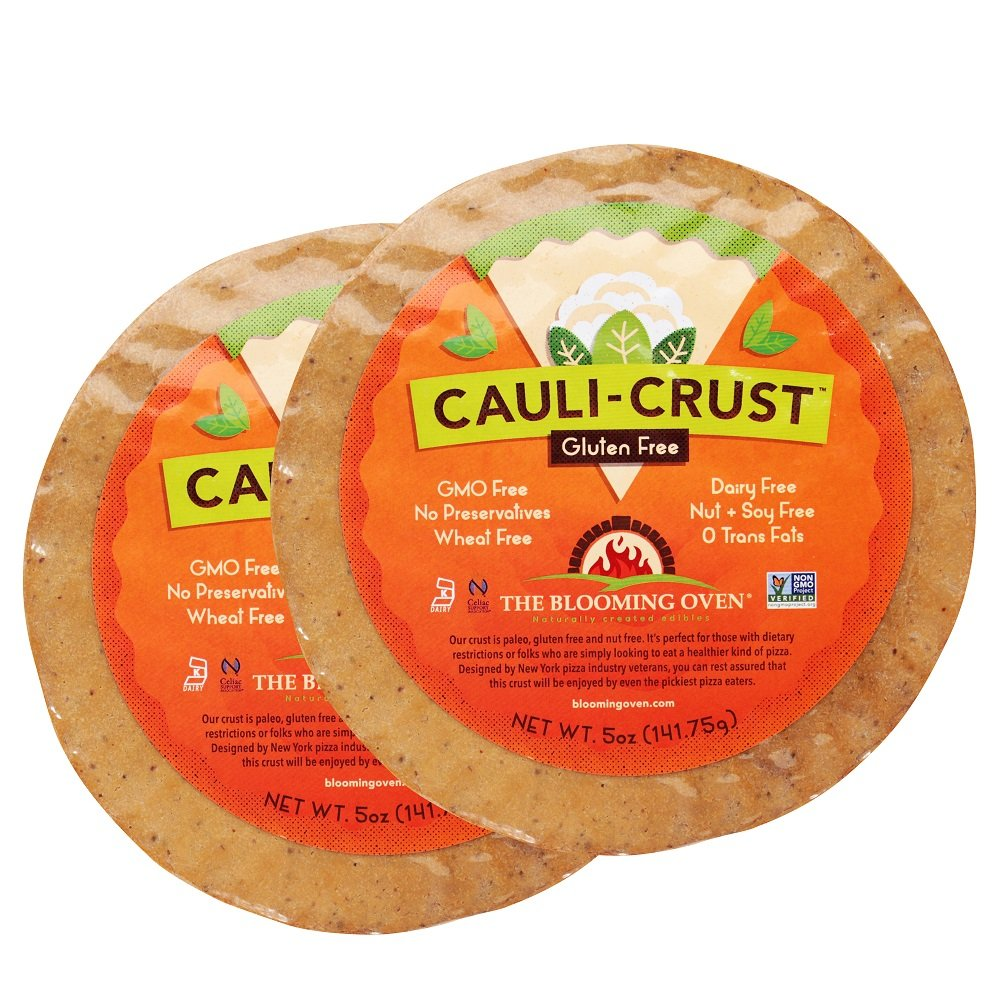 Blooming Oven CAULI-CRUST Cauliflower Pizza Crust - This Gluten / GMO FREE Pizza Crust is the Most Delicious Crust on the Market Today! (2 Pack)