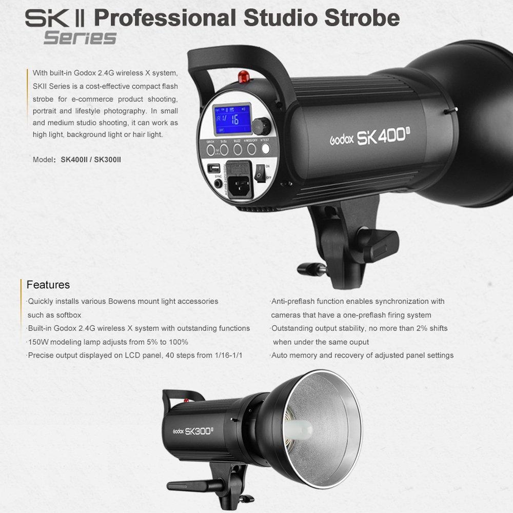 GODOX SK400II 400Ws 110V Professional Studio Strobe SK Series Power 5600K Max 400WS GN58 Flash Studio Light by Godox (Image #2)