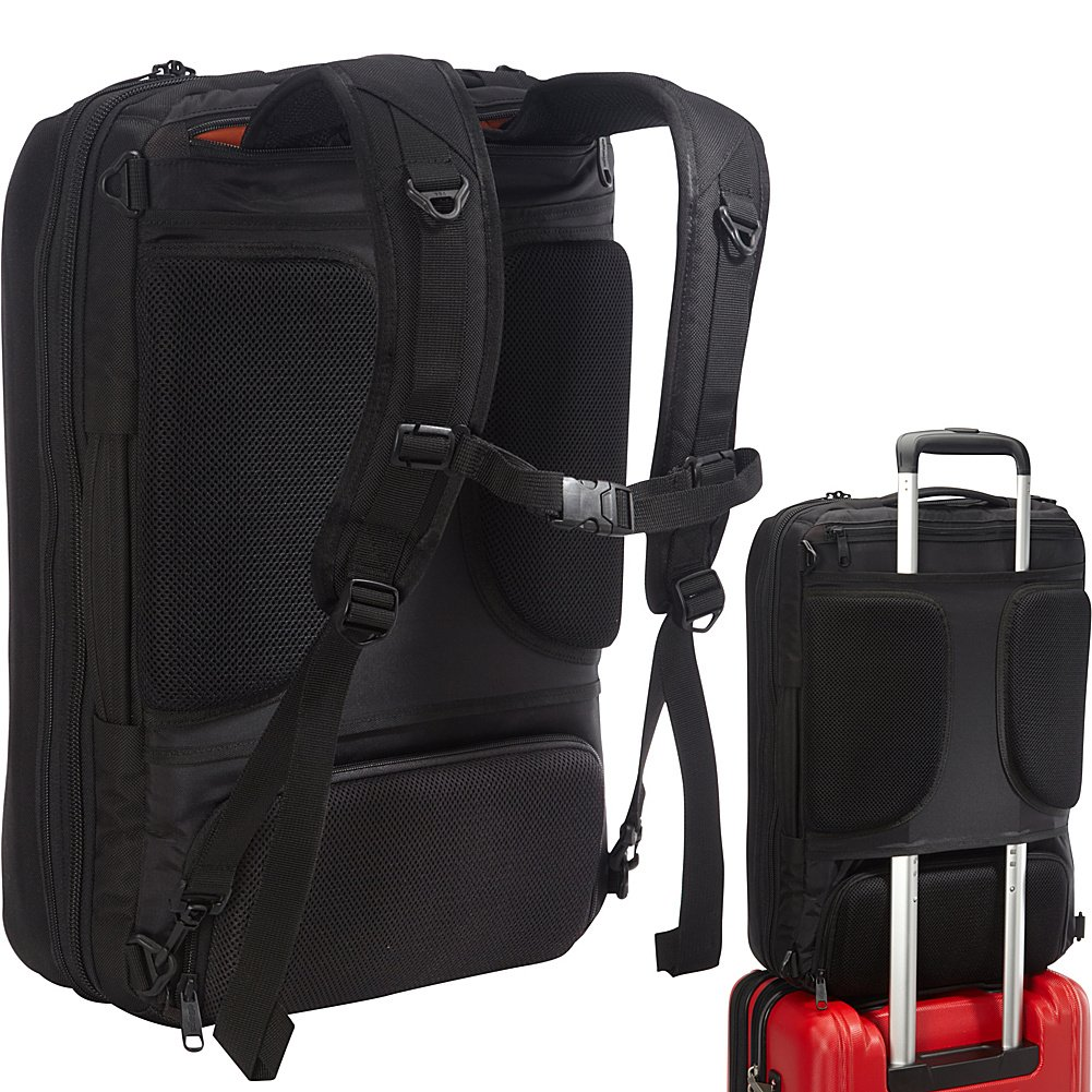 eBags Professional Weekender Carry-On Backpack Fits 18'' Laptop for Travel & Business - TSA Friendly - (Black) by eBags (Image #7)