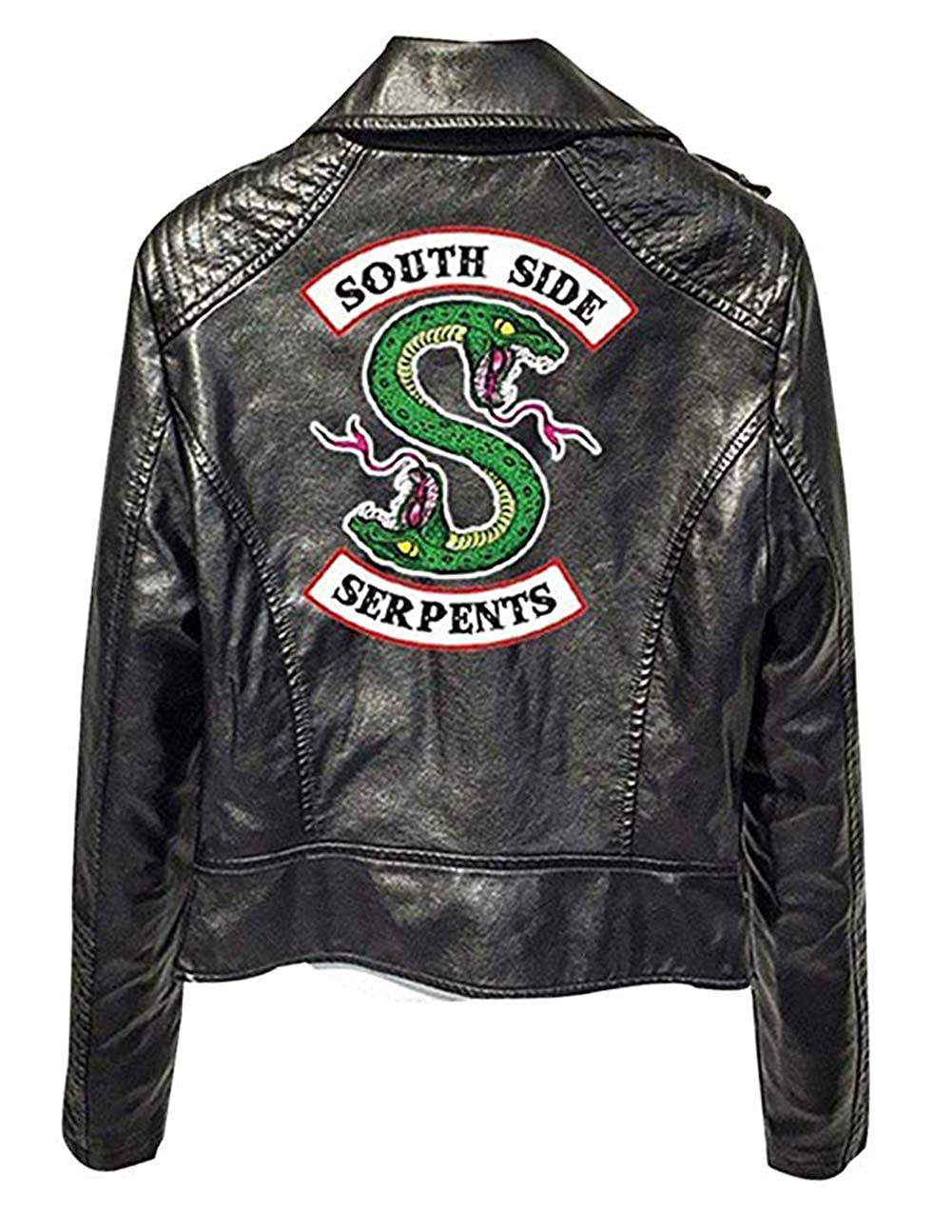 FIYEAGLE Giacca Serpents Riverdale Giacca Donna Pelle Invernali Riverdale Southside Serpents Faux Leather Jacket Elegante Black Cappotto