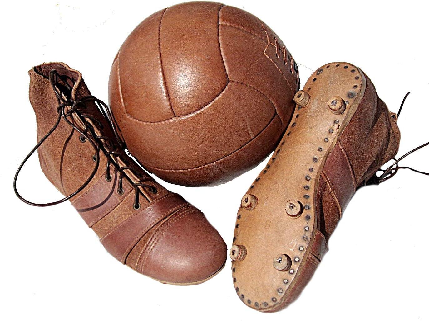 Botas de fútbol + balón de fútbol en Estilo Retro de los años 20 ...