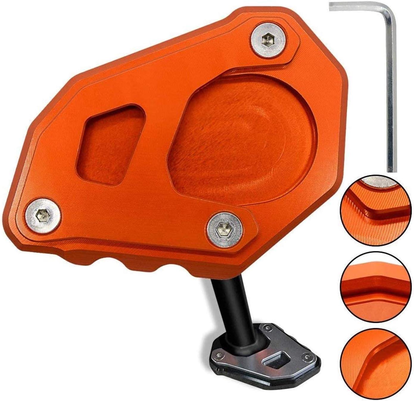 1050 1090 1290 Adventure 1190 Motorrad Cnc Aluminium Seitenständer Vergrößern Seitenständer Platte Für Ktm 1050 1090 1190 1290 Adventure 1290 Super Adventure R Orange Orange Auto