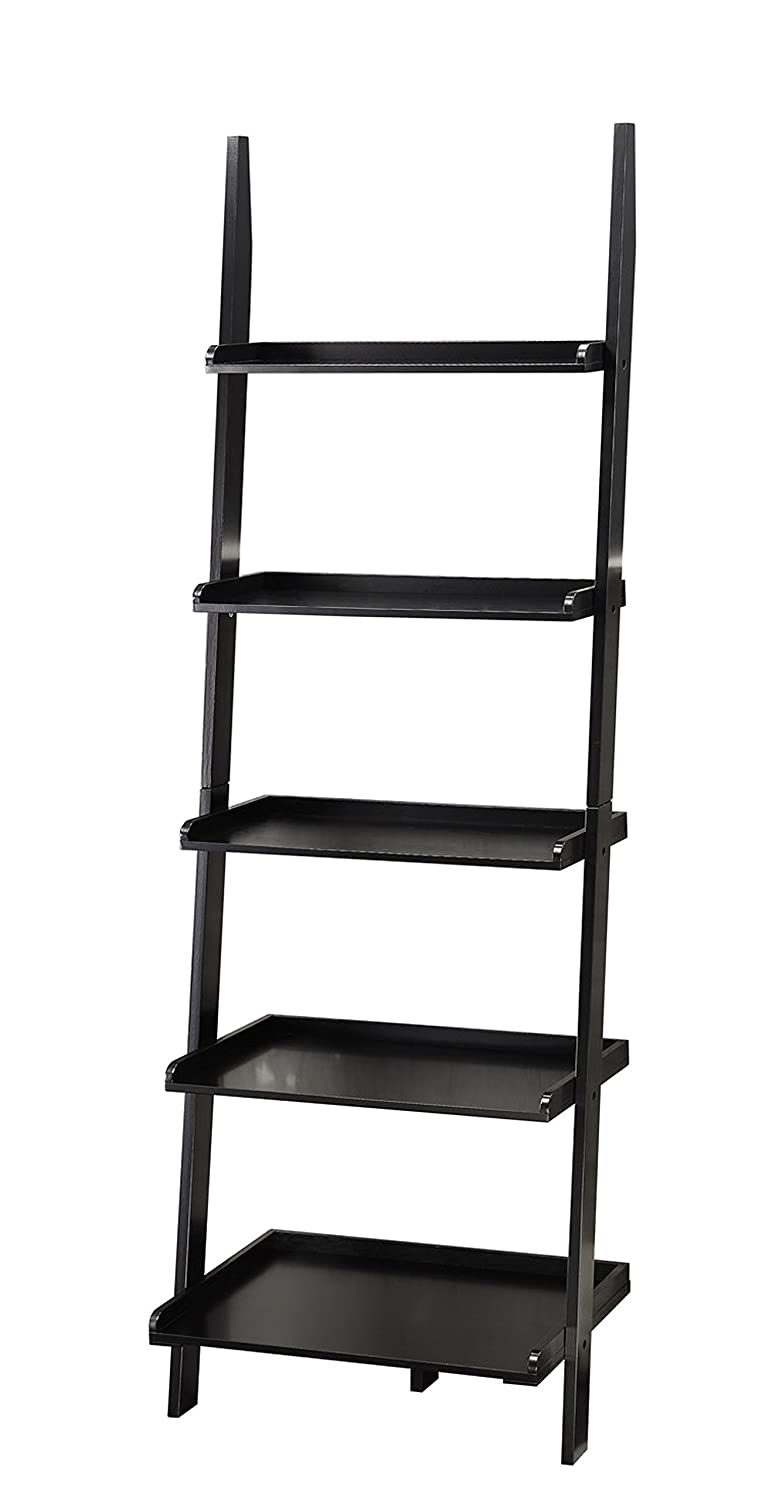 Amazon: Convenience Concepts American Heritage Bookshelf Ladder, Black:  Kitchen & Dining