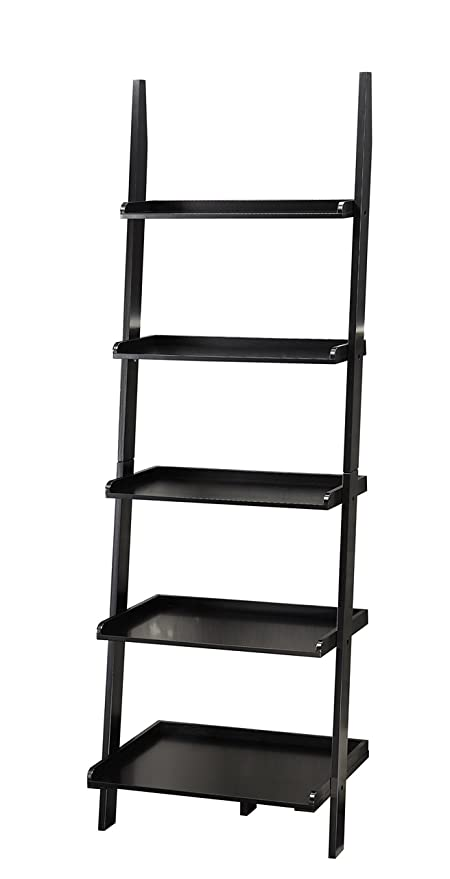 Convenience Concepts American Heritage Bookshelf Ladder Black
