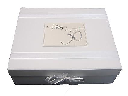 White Cotton Cards LN30X - Caja de recuerdos (tamaño grande ...