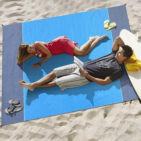 Afufu Alfombras de Playa, Toalla Playa Gigante 200 x 210cm, Manta ...
