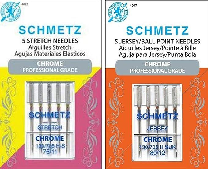 2 Pack 130//705 H-S 75//11 5 per pack Schmetz 1722 Stretch Needles