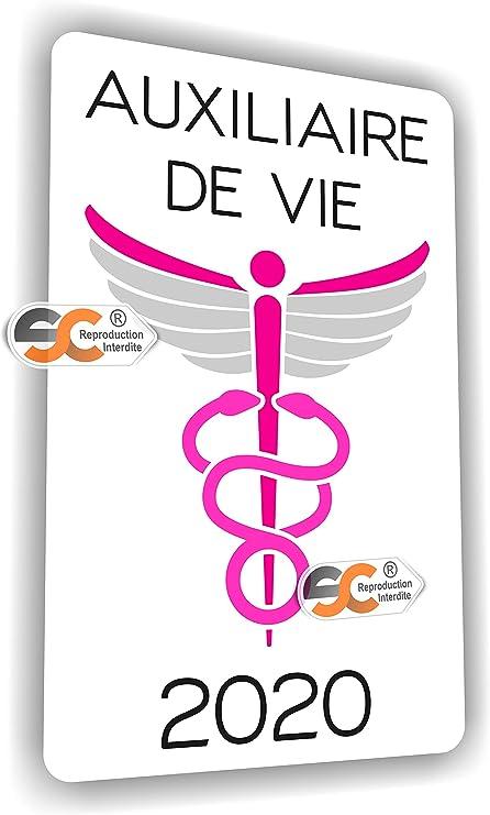 ASH Aide Soignante AMP - Aide M/édico Psychologique Aide /à Domicile SC /® Sticker//Autocollant Caduc/ée Infirmi/ère Fabrication Fran/çaise Auxiliaire de Vie AMP