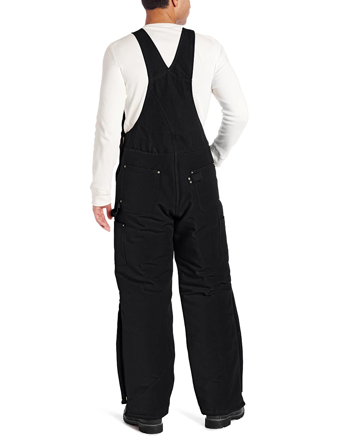 a0ba6c1a12479 Carhartt .R02.BLK.S387 Duck Bib Overall, Quilt Lined, W30/L30, Black:  Amazon.co.uk: Welcome