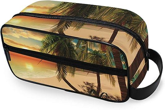 CPYang - Neceser de Viaje con diseño de Palmera Tropical para Hombre y Mujer: Amazon.es: Equipaje