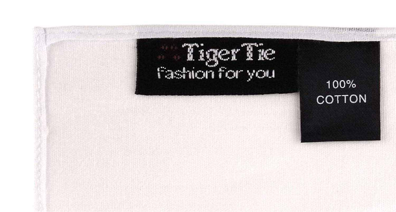 TigerTie - pañuelo de calidad de 100% algodón en blanco blanco ...