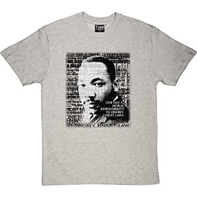 Amazon Com Martin Luther King Unjust Laws Quote Men S T Shirt Clothing