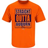 Smack Apparel Auburn Football Fans. Straight Outta Auburn Orange T-Shirt (Sm-