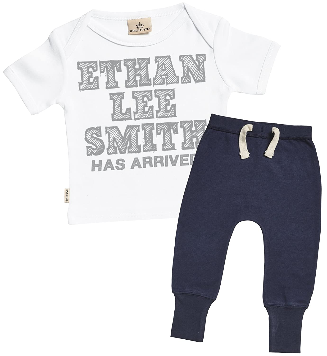 Personalised Full Name Has Arrived Baby T-Shirt SR