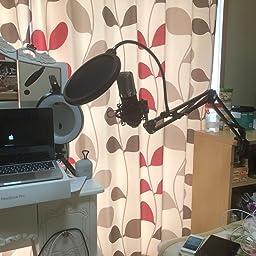 Amazon Neewer Nw 700プロフェッショナルスタジオ放送 録音コンデンサーマイク スタンドキット マイクスタンド 楽器