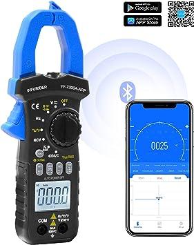 Bluetooth Clamp Meter Infurider Yf 7200app Stromzange Multimeter Zangenmessgerät Mit Trms 6000 Counts Auto Ranging Zangenmultimeter Für Ac Dc Spannung Strom Widerstand Kapazitanz Temperatur Test Auto