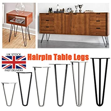 4 patas de mesa de horquilla de acero resistente para muebles ...
