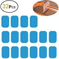 zociko ABS Stimulator Replacement Gel Pads Abs Trainer Gel Sheet for Muscle Abdominal EMS Stimulator Workout Equipment Skin Friendly and Non-Irritating EMS Gel Pad 32pcs (2pcs/Packs, 16packs/Box)