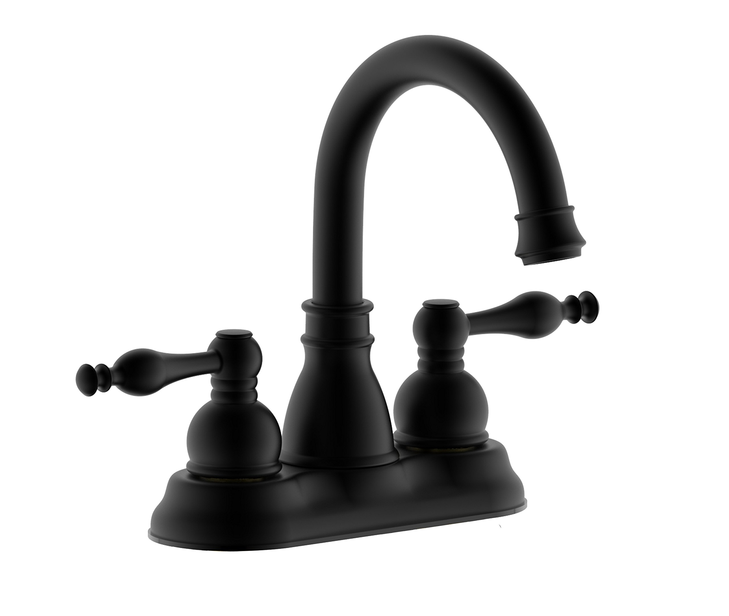 Derengge F-450-JM MT Matte Black Two-Handle Lavatory Bathroom Sink Faucet with Pop up Drain Trim Assembly,Meet cUPC NSF AB1953 Lead Free by Derengge