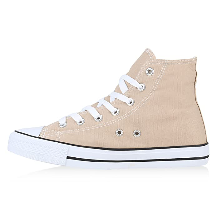 Naughtystyle Herren Schuhe Sneakers Sneaker High Denim Turnschuhe Camouflage Stoffschuhe Schnürer Flandell B07CL1M5B8