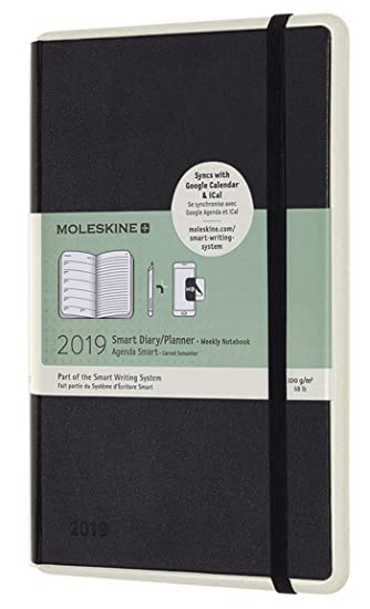 Moleskine 2019 12 Month Smart Weekly Planner, Hard Cover, Large (5